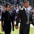 David Beckham et sa femme Victoria - Les invités arrivent à la chapelle St. George pour le mariage du prince Harry et de Meghan Markle au château de Windsor, Royaume Uni, le 19 mai 2018.