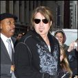 """Billy Ray Cyrus à New York pour la promotion du film Hannah Montana avec sa fille Miley Cyrus le 7 avril 2009"""