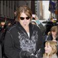Billy Ray Cyrus à New York pour la promotion du film Hannah Montana avec sa fille Miley Cyrus le 7 avril 2009