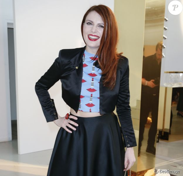 """Semi-exclusif - Elodie Frégé - Cocktail du lancement du champagne Louis Roederer """"Cristal 2008"""" au Palais De Tokyo à Paris le 23 mai 2018. © Olivier Borde/Bestimage"""