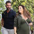 Eva Longoria enceinte et son mari José Baston sont allés déjeuner au restaurant E Baldi à Beverly Hills, le 8 mai 2018