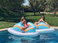 Kendall Jenner et sa soeur Kourtney Kardashian : Pool party en bikini
