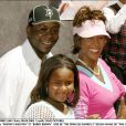 Bobby Brown, Whitney Houston et leur fille Bobbi Kristina à Los Angeles en août 2004