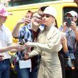 Lady Gaga se rend au studio d'enregistrement Electric Lady Sound à New York, le 30 mai 2018.