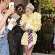 Lady Gaga quitte le studio d'enregistrement Electric Lady à New York, le 30 mai 2018.