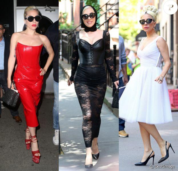 Lady Gaga enchaîne les séances d'enregistrement en studio. New York, mai 2018.