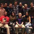 James Lafferty, Tyler Hilton, Jackson Brundage et les acteurs de la série Les Frères Scott se retrouvent lors d'une convention de fans en mars 2016.