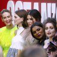 Sarah Paulson, Anne Hathaway, Sandra Bullock, Mindy Kaling, Helena Bonham Carter et Rihanna à la première du film 'Ocean's 8' à New York, le 5 juin 2018 © Charles Guerin/Bestimage