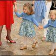 Letizia et ses filles Leonor et Sofia ont célébré Pâques hier à Palma de Majorque