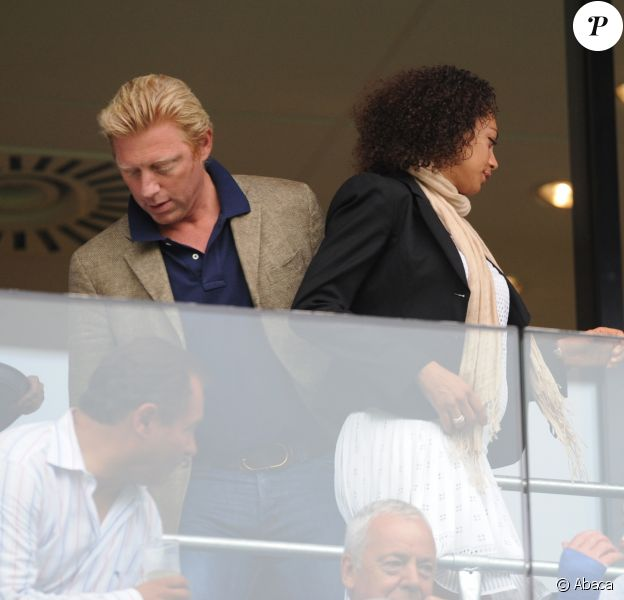 Boris et Lilly Becker à Sinsheim en Allemagne. Août 2009.