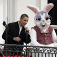 Barack Obama lors du lundi de Pâques à la Maison Blanche le 13 avril 2009