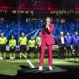 Nolwenn Leroy fait le show d'avant-match des légendes, France98 contre une sélection FIFA 98 à la U Arena à Nanterre, France, le 12 juin 2018. France98 a gagné 3-2. © Bestimage