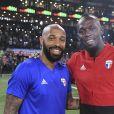 Thierry Henry et Usain Bolt - Les Bleus de France98 se sont imposés (3-2) face à une sélection FIFA 98 pour le match des légendes pour l'anniversaire des 20 ans du sacre mondial à la U Arena à Nanterre, France, le 12 juin 2018. © Bestimage