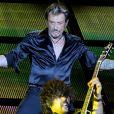 Exclusif - Johnny Hallyday et Yarol Poupaud - Premier concert de Johnny Hallyday au Stade de France, le jour de son 69e anniversaire le 15 juin 2012.