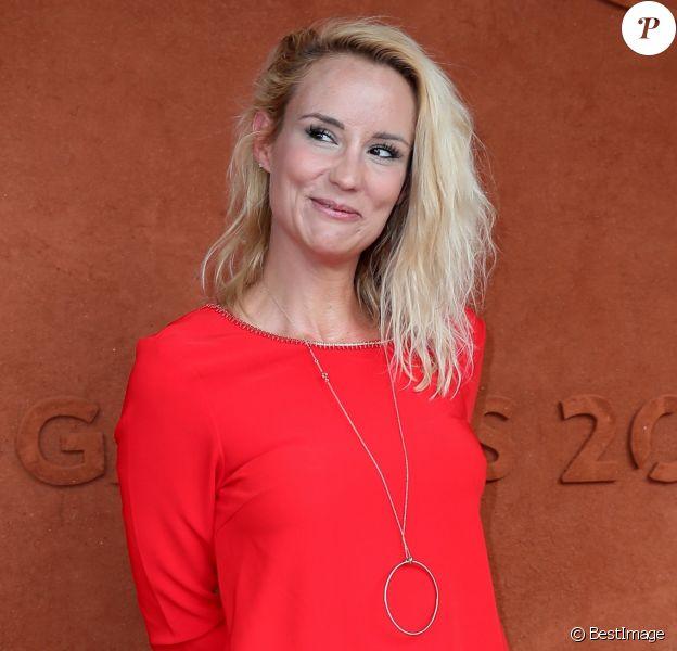 Elodie Gossuin au village lors des internationaux de tennis de Roland Garros, à Paris le 28 mai 2018.