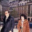 Yvette Horner aux obsèques de Thierry Le Luron en novembre 1986 à Paris. La reine de l'accordéon est morte à 95 ans le 11 juin 2018.