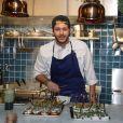"""Exclusif - Alessandro Belmondo, le fils de Paul et Luana Belmondo est chef cuisinier dans le nouveau restaurant """"Il Cara Rosso"""" dont c'est l'inauguration ce jour, à Saint-Cloud le 31 janvier 2018. © Denis Guignebourg/Bestimage"""