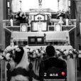 Alizée et Grégoire Lyonnet, le jour de leur mariage le 18 juin 2016. Un cliché dévoilé par Alizée sur Instagram le 18 juin 2018.