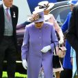 La reine Elizabeth II au Derby d'Epsom le 2 juin 2018.