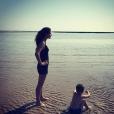 Clémence Castel et son fils, le 2 juillet 2018.