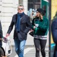 Exclusif - Katharine McPhee avec son compagnon David Foster à New York le 5 avril 201