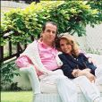 PAUL LOUP SULITZER ET SA FEMME DELPHINE JACOBSON A DEAUVILLE LE 20 JUIN 1993