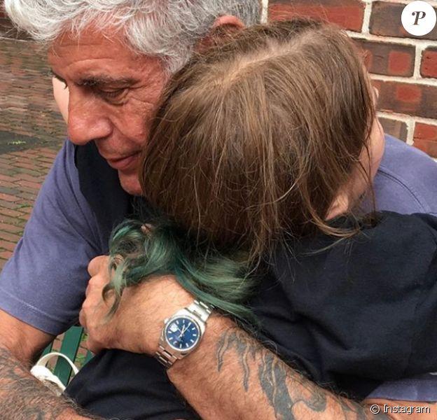 Anthony Bourdain et sa fille Ariane. Photo publiée sur Instagram en juillet 2016.