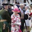 La reine Elizabeth II d'Angleterre lors de la garden party au palais de Holyroodhouse à Edimbourg le 4 juillet 2018.