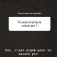 """Maxime Guény officialise son retour dans """"Touche pas à mon poste"""" (C8) sur Instagram, le 11 juillet 2018."""