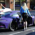 Caitlyn Jenner et sa supposée fiancée Sophia Hutchins sont allées diner à Malibu, le 27 mai 2018.