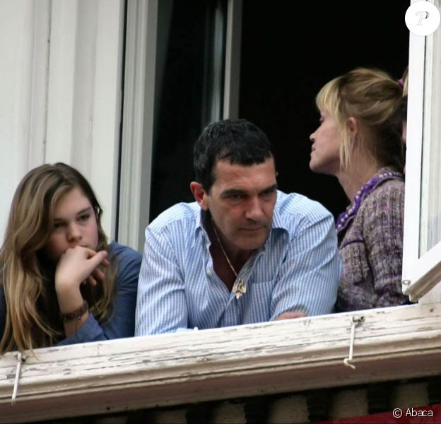 Antonio Banderas, Melanie Griffith et leur fille Stella Del Carmen