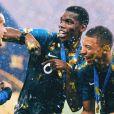 Paul Pogba sacré champion du monde avec l'équipe de France - 15 juillet 2018