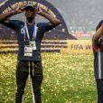 Paul Pogba et sa mère Yeo - Finale de la Coupe du Monde de Football 2018 en Russie à Moscou, opposant la France à la Croatie (4-2). Le 15 juillet 2018 © Moreau-Perusseau / Bestimage