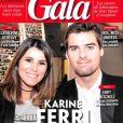 "Karine Ferri et Yoann Gourcuff. Couverture du magazine ""Gala"", novembre 2017."
