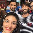 """Les acteurs de """"Plus belle la vie"""" sur le tournage - Instagram, juillet 2018"""