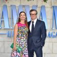 "Colin Firth et sa femme Livia Giuggioli à l'avant-première de ""Mamma Mia! Here We Go Again"" au cinéma Eventim Apollo à Londres, le 16 juillet 2018."