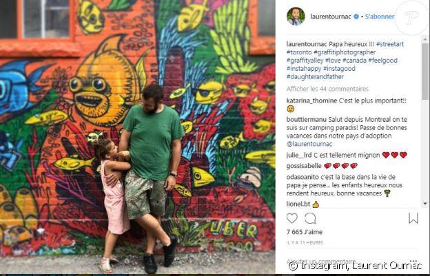 Laurent Ournac en compagnie de sa fille Capucine - Instagram, 31 juillet 2018