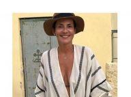 Cristina Cordula magnifique sans maquillage : La star au top en kimono de plage