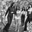 Khloé Kardashian, Kendall Jenner, Kim, Kourtney Kardashian et Kylie Jenner - Campagne publicitaire automne 2018 de CALVIN KLEIN UNDERWEAR et CALVIN KLEIN JEANS.