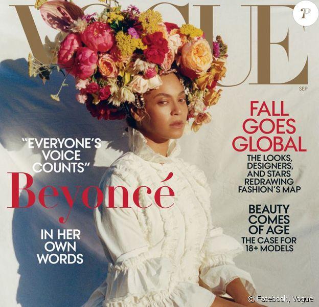 Beyoncé en couverture de Vogue, numéro de septembre 2018. Photo par Tyler Mitchell.
