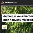 Agathe Auproux en maillot de bain sur Instagram. Août 2018.