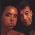 Stéphane Plaza et Jeanfi Janssens en vacances avec Karine Le Marchand. Août 2018.