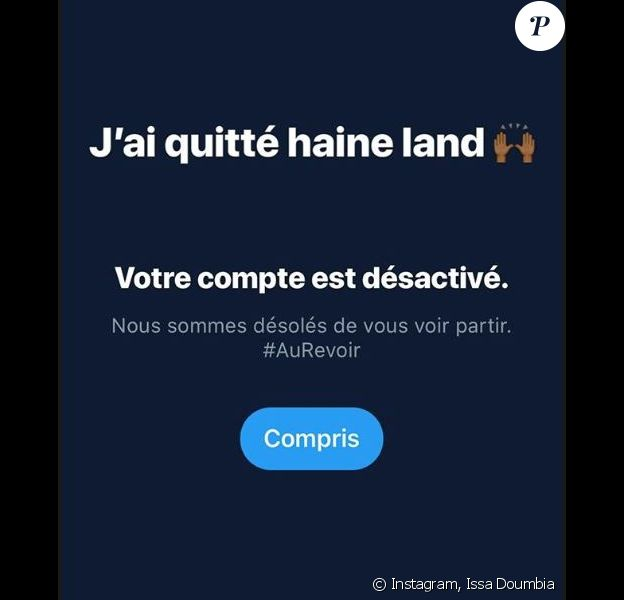 Issa Doumbia révèle avoir quitté Twitter en story Instagram - 17 août 2018