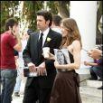 Patrick Dempsey et Ellen Pompeo sur le tournage de Grey's Anatomy