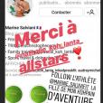 """Les personnalités soutiennent le compte Instagram de Marine Salviani, la fille de Pascal (""""Koh-Lanta""""). Août 2018."""