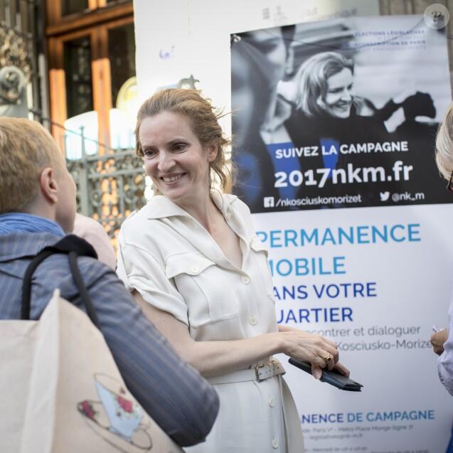 Nathalie Kosciusko-Morizet (NKM) candidate aux élections legislatives dans la 2e circonscription de Paris reçoit la visite et le soutien de Jean-Pierre Raffarin le 6 juin 2017. © Romuald Meigneux/Bestimage