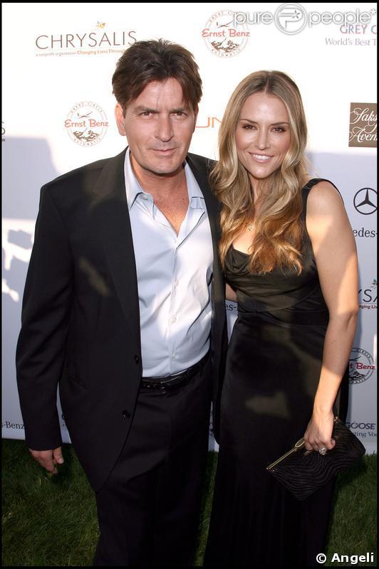 Charlie Sheen et sa femme