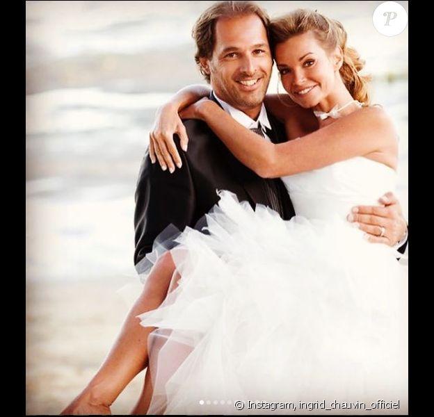 Ingrid Chauvin a partagé des photos de son mariage sur Instagram, à l'occasion de ses 7 ans avec son mari Thierry. Le 27 août 2018