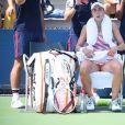 Alizé Cornet lors de son match à l'US Open contre la Suédoise Johanna Larsson, à New York, le 28 août 2018.