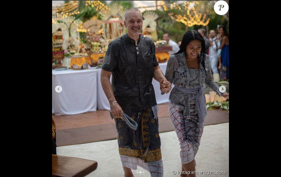 Anggun a partagé des photos d'elle et de son mari Christian, en tenues traditionnelles, sur Instagram, le 29 août 2018.